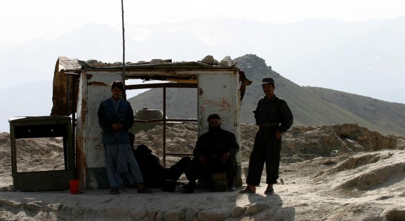 ANP Checkpoint Outside Kabul