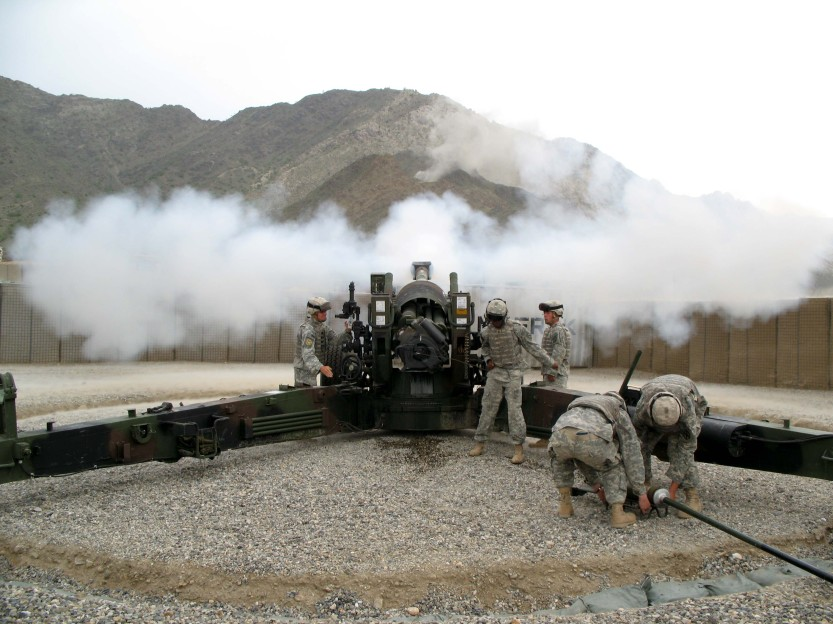 155 mm artillery gun in the direct fire role, Nuristan