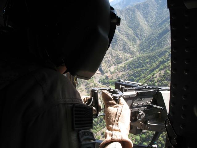 Air gunner over Nuristan