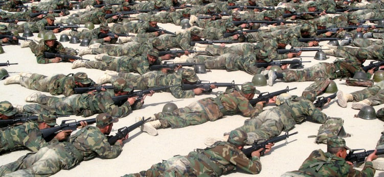Afghan Security Forces training, KMTC, 2009