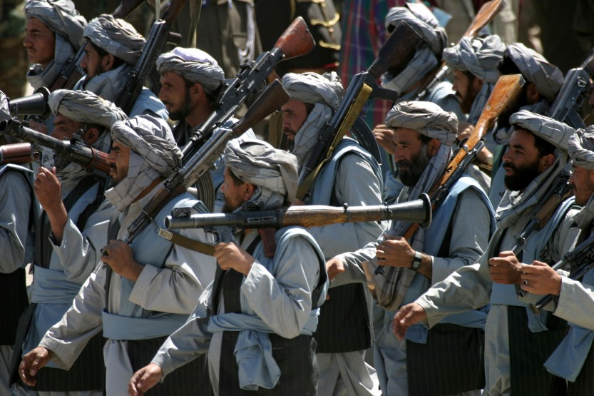 Mujahideen on parade
