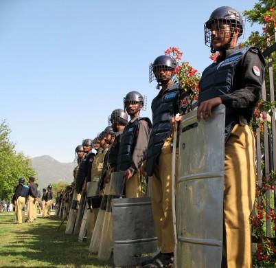 Riot police, Islamabad, Pakistan