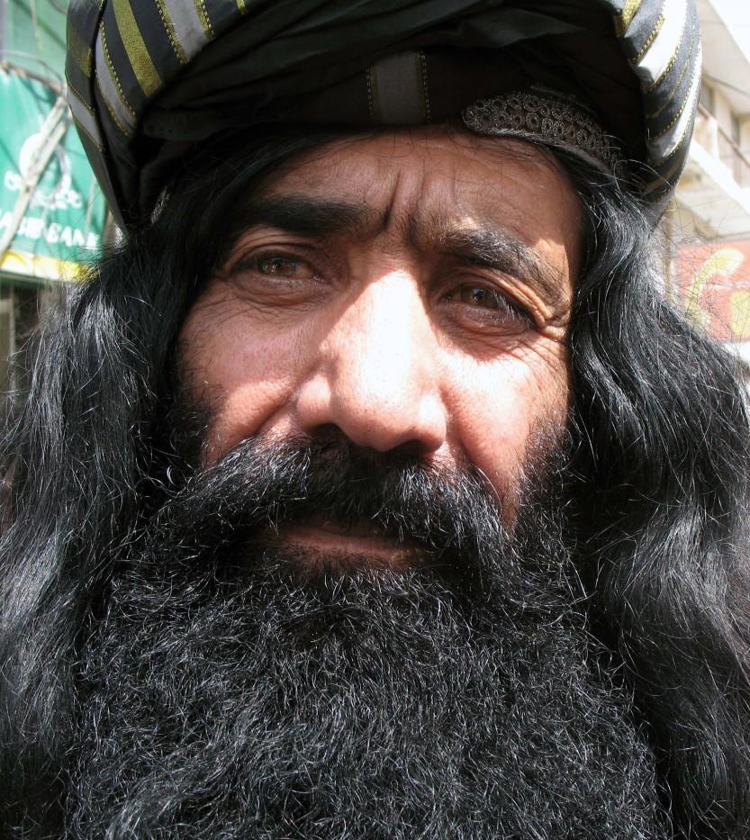 Baluch man in traditional headdress, Quetta, Baluchistan Province, Pakistan