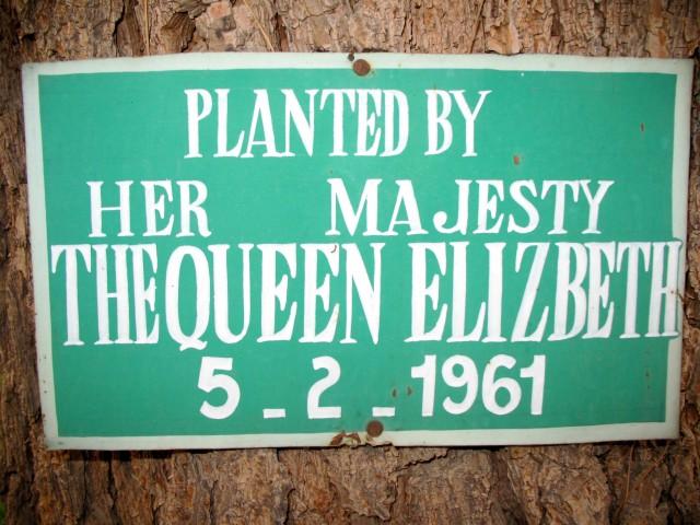 Commemorative plaque, formal gardens, Governor's Residence, Quetta, Pakistan