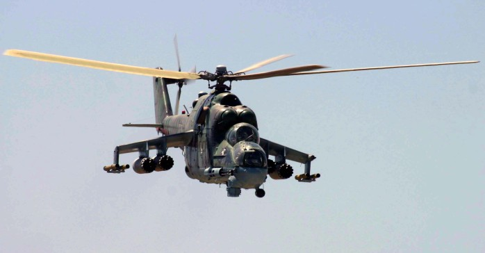 Russian made Afghan attack helicopter