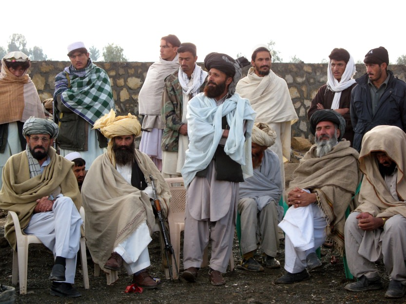 Tribal elders gather near Pakistan border, Eastern Afghanistan, 2007