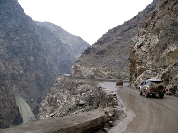 Winding mountain pass to Jalalabad, Afghanistan
