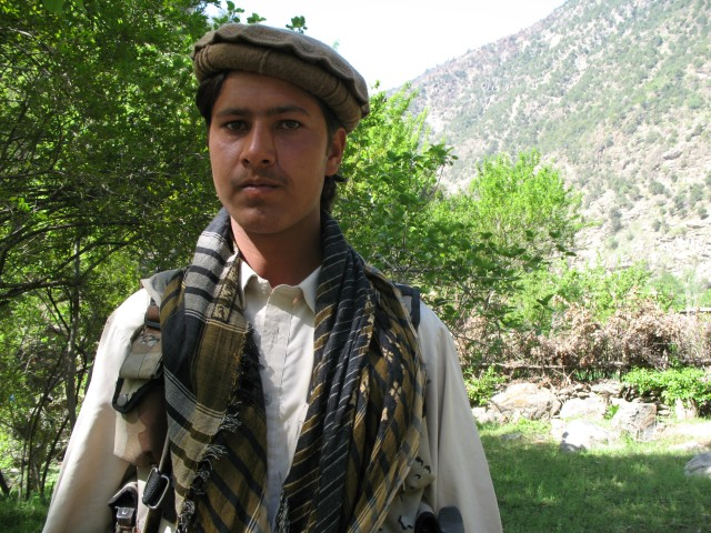 Young Nuristani militia man in Kam Desh district, Nuristan