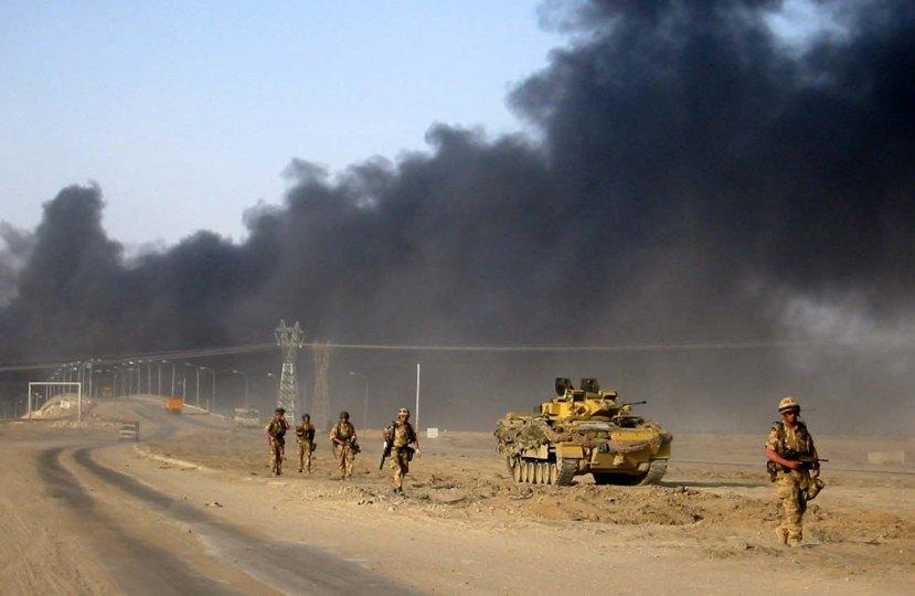 British foot patrol south of Basra. 03