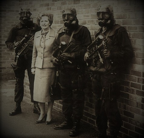 thatcher with b sqn sp team